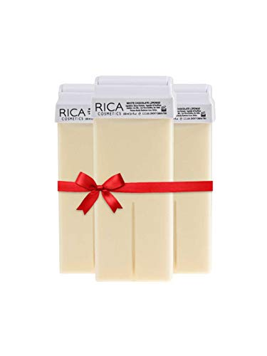 Rica Wax White Chocolate Roll-On Wax Kit (Set of 3 Refill Wax) 100 ML - Made in Italy