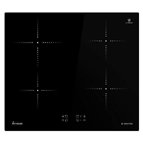 KKT KOLBE Induktionskochfeld 59cm / Autark / 7,2kW / 9 Stufen / 4 Zonen/rahmenlos/Touch Control/LED-Anzeige / IH5900RL