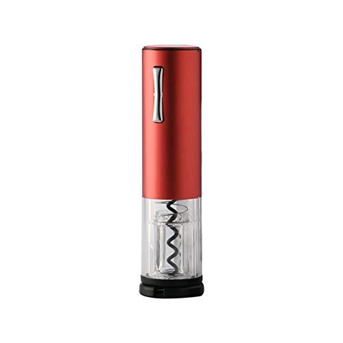 Hylotele abridores de Vino Abrebotellas de Vino eléctrico Profesional, abridor de Vino con luz indicadora LED, sacacorchos automático de Acero Inoxidable con Carga USB (Rojo)