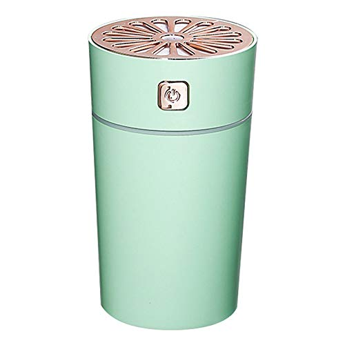 Xinqin Ding 280ML Small Portable Cup USB Ultrasonic Humidifying Air Humidifier, Air Purifier Rainbow Cup Humidifier, Suitable for Home, Bedroom, Office, Car, Travel (Green)