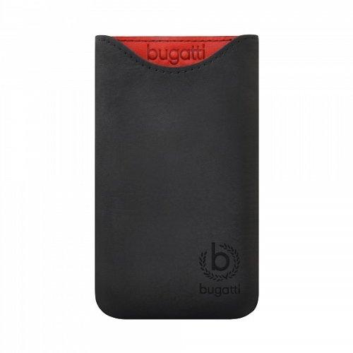 Original Bugatti Handy Leder Tasche - Skinny - Size SL - Cover Case Hülle in Glowing Coal - für verschiedene Samsung Mobiltelefone