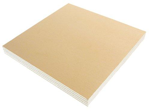 Hagspiel - Pannelli in compensato di pioppo, 5 pezzi, 20 x 20 cm, 20 mm