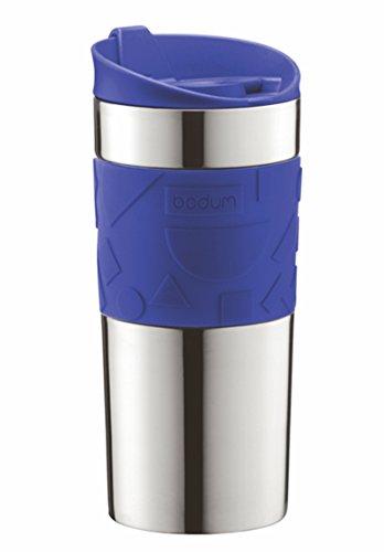 BODUM travel mug Thermobecher, Edelstahl 0,35 l/12 oz, dunkel blau