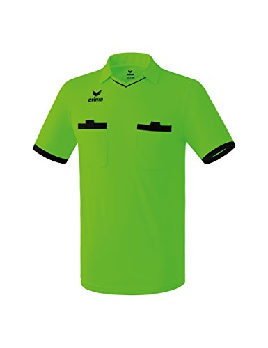 erima Saragossa Camiseta de Árbitro, Hombre, Green Gecko/Negro, S