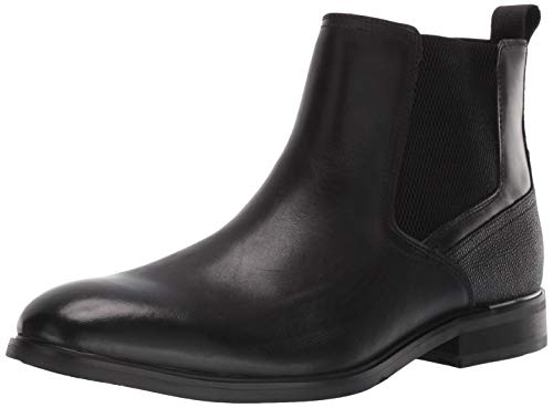 Steve Madden Men's AFINITY Chelsea Boot, Black Leather, 13 M US