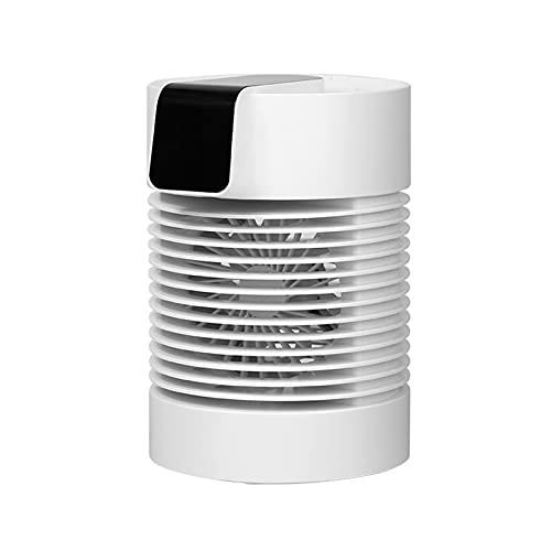 SUNDAY HOME Refrigerador de Aire evaporativo portátil 360 ° Ventilador de oscilación con 3 velocidades de Viento, Mini acondicionador de Aire Personal 700 ml de Tanque de Agua, 4000mAh con batería