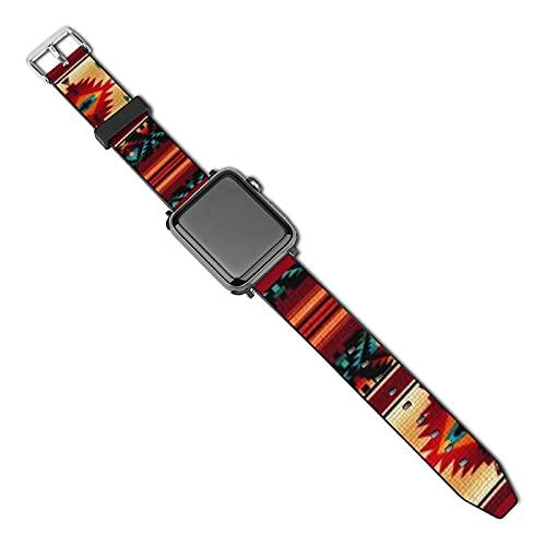 La última correa de reloj compatible con Apple Watch Band 38 mm 40 mm Correa de repuesto para iWatch Series 5/4/3/2/1, estilo suroeste