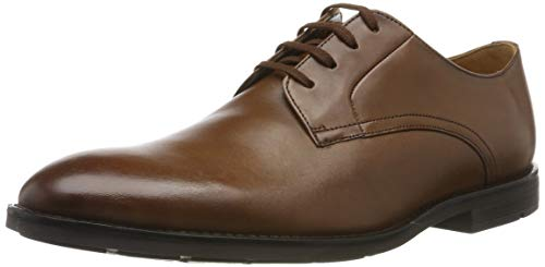Clarks Ronnie Walk, Scarpe Stringate Derby Uomo, Marrone (British Tan Lea British Tan Lea), 43 EU
