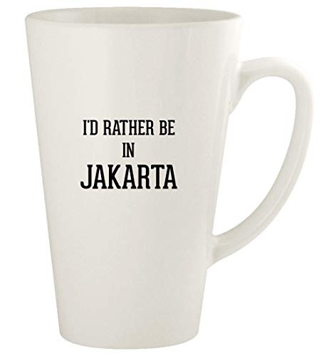 I'd Rather Be In JAKARTA - 17oz Ceramic Latte Coffee Mug Cup, White