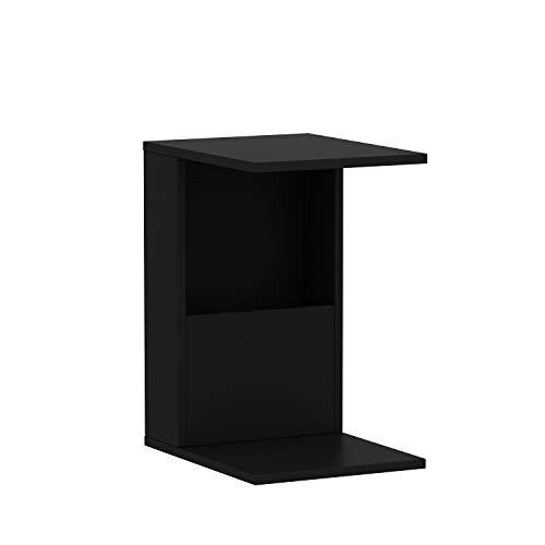 HOMIDEA Bono Tavolino Basso da Salotto con Ruote - Materiale in Legno - Tavolino da Divano - Tavolino da caffè Moderno in Un Design alla Moda con mensola (Nero)