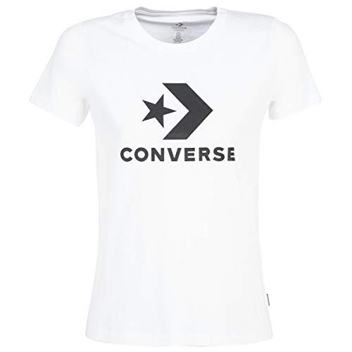 CONVERSE Star Chevron Tops y Camisetas Femmes Blanco - XL - Camisetas Manga Corta