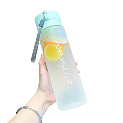 JWDS Botella deportiva Botella De Agua De 800 Ml Taza De Agua Transparente De Agua Fría Al Aire Libre Copa Deportiva De Agua Con Leche Portátil Copa De Agua De La Cuerda