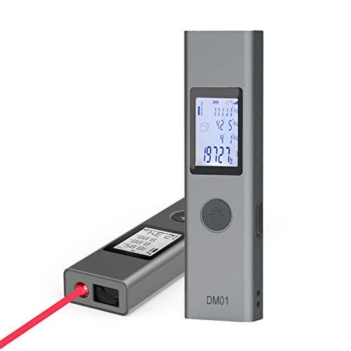 laser distance meter, IIDA DM01 Laser measure 131 Feet backlit Display Compact handheld Laser Measurement tools for Dad real estate agent gifts