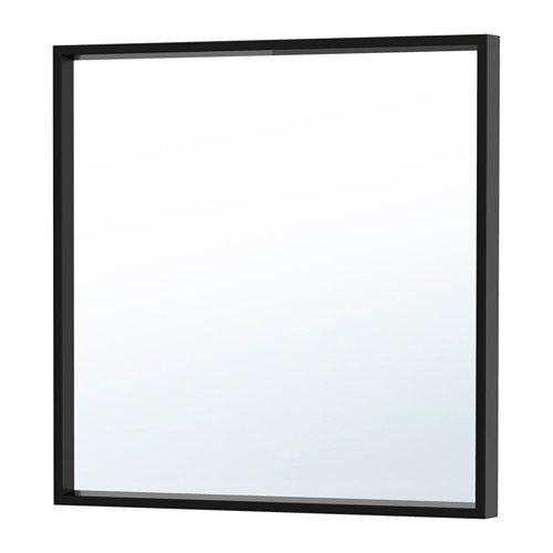 Ikea NISSEDAL Spiegel in schwarz; (65x65cm)
