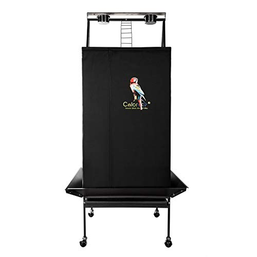 Colorday Good Night Bird Cage Cover for Large Bird Cage with Play Top (Patent Pending),Black 68'