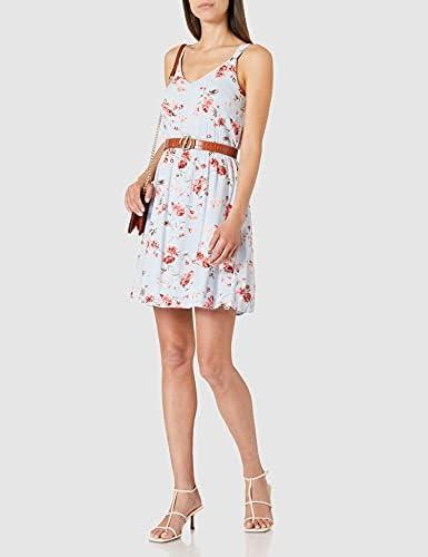 Only Damen Kleid Onlkarmen Tragerkleid Mit Blumenmuster Amazon De Bekleidung