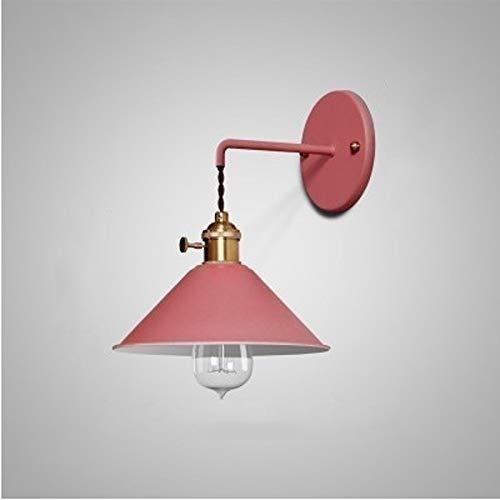 DINGYGJ Personalidad Moderna Lámpara de Pared Macaron Color Creativo Bombilla de luz Moderna E27 Lámpara Colorida de la Noche Elección Muebles Iluminación Decorativa, Azul (Color : Red)