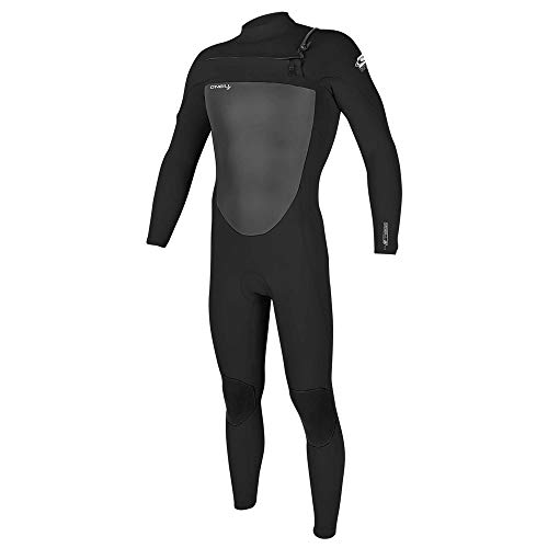 O'Neill Men's Epic 3/2 mm Chest Zip Full Wetsuit - Black/Black, Size: Medium