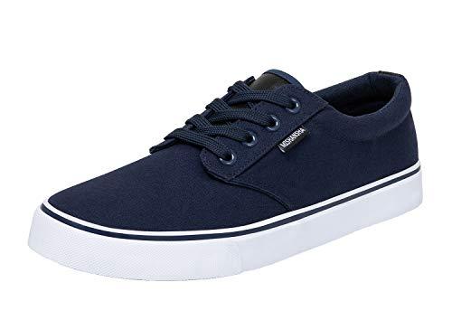 Mishansha Zapatillas De Gimnasia Hombre Zapatos de Lona Azul 43