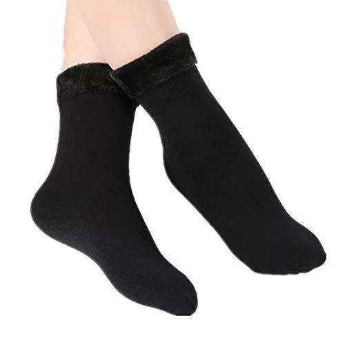 Damen Socken Kolylong® Frauen 10 Paar Einfarbig Warm Socke Plus Samtverdickende Schneesocken Winter Socken Boden Socken Teppich Socken Mittlere Strümpfe Strapsstrümpfe Eine Größe