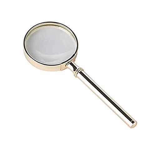 GENFALIN Desmontaje de Vidrio 20x Diseño portátil Lupa, 20x 70 mm Alta Definición Vidrio Grande de la Lente de Mayores Los Estudiantes de Lectura Pequeño Imprime el Mapa de Estudio de Lupa