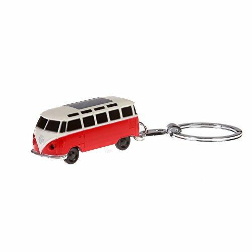 VW sleutelhanger Bulli rood met LED-zaklamp