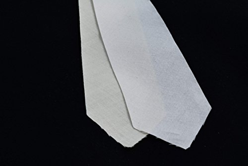 "10 Pack of PRE-Cut 2 Layer - Cotton + Wool Necktie interfacing/Interlining, AC Ter Kuile, Finest Available, Made Netherlands (3 1/2"")"