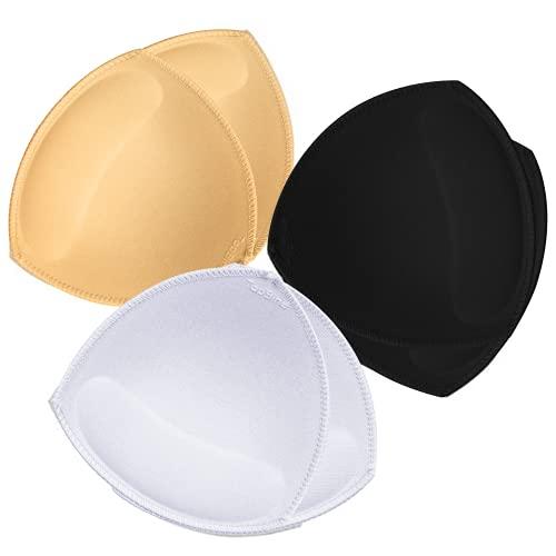 TopBine 3 Paar BH Einlagen Bra Pads Herausnehmbaren Sport BH,Bikinis Unterwäsche Einsätze Pads, 3 Color, XL