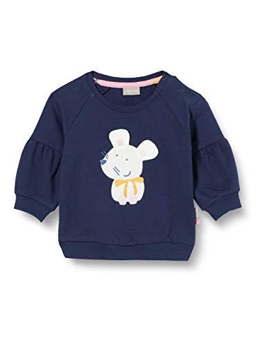 Sigikid Baby-Mädchen Bio-Baumwolle, Größe 062-098 Sweatshirt, Blau/Maus, 62
