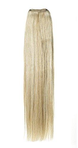 American Dream de qualité Platinum 100% 50,8 cm trame de cheveux humains Couleur 14/22 – Blond Cendré Naturel/Blond Plage