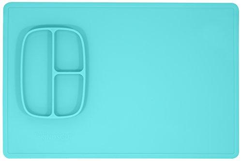Kindsgut- Mal- & Bastelunterlage, Schreibtisch-Set aus Silikon, leicht abwaschbar und rutschfest, spülmaschinenfest und BPA-frei, dezente Farben, Mint