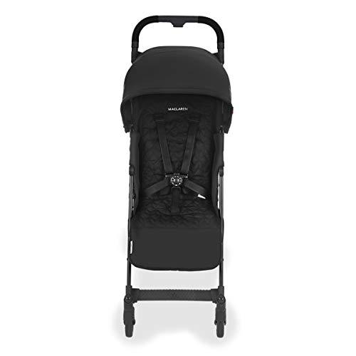 Maclaren Quest Arc Silla de paseo, ligero, manillar unido para recién nacidos hasta los 25 kg, Asiento multiposición, suspensión en las 4 ruedas, Negro