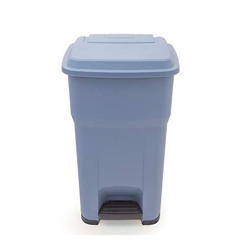 New LXF Outdoor Waste Bins Trash can Outdoor Property Recycling bin Pedal 55L Black Wheelie bin (Col...