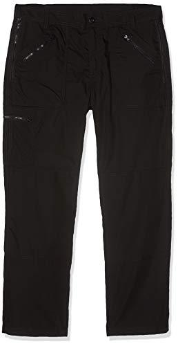 Regatta Professional Original Action Water Repellent Multi Zip Pocket Trousers Pantalon Homme, Noir, Size: 44\