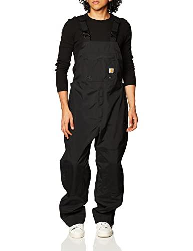 Carhartt Men's Shoreline Waterproof Breathable Bib Overalls,Black,Large Short