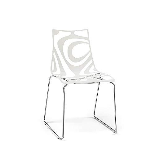 Scab Set 2 Design Wave Chaise Pied traîneau Lin-Transparent