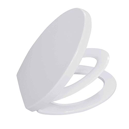 BATH ROYALE BR631B-FFP White, ELONGATED Toilet Seat with Built-in Child Seat for Potty Training, Slow Close Easy Cleaning, Fits All ELONGATED Toilets Including Kohler, Toto and American Standard