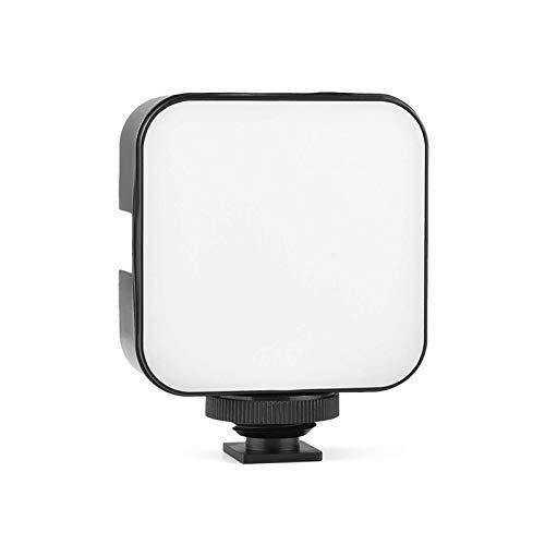 Mini lampada per fotocamera portatile LED01, luce di riempimento per foto, video a LED, 6500 K, dimmerabile, 5 W, per fotocamera e smartphone