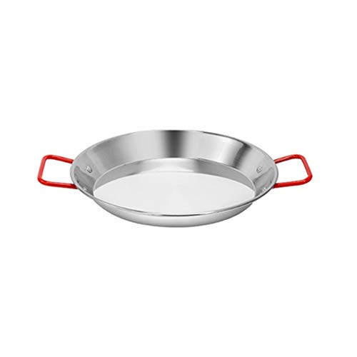 Freír sartenes de acero inoxidable paella pan marisco español olla fritura sin palanca frito cocina frito pollo plato de fruta herramienta de cocción wok (Color : 21CM)