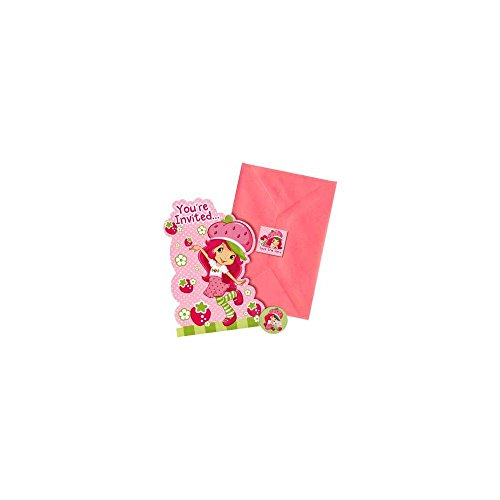 Amscan You're Invited Strawberry Shortcake Party Invitations,6.25 x 3.5-Inch. (Pack of 8)