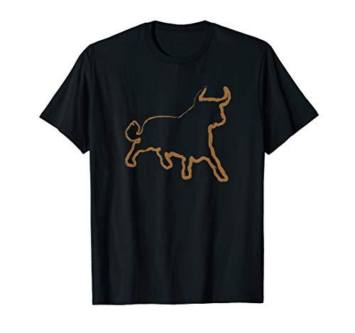Ein wilder Stier in Pinseloptik | Rinderzüchter & Tierfreund T-Shirt