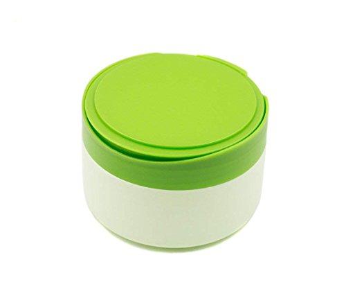 Ericotry 1 Stück Tragbarer Kunststoff Baby Hautpflege Baby After-Bad Puder Quaste Behälter Behälter Behälter Talkum Pulver Dose Dose Dose mit Puderquaste und Sieb