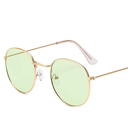 Gafas de diseñador Lady Round Gafas de Sol Calle OroOcéanoVerde