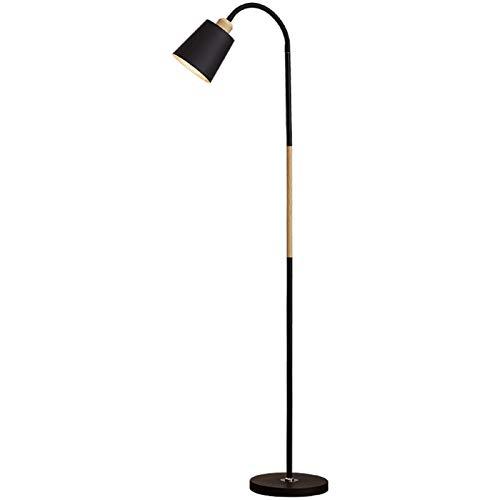 lámpara de pie moderna Lámpara de pie de luz blanca negra Lámpara de pie Lámpara de pie Simple Lámpara de pie Lámpara de la esquina Lámpara de apartamento luz de lectura ( Lampshade Color : White )
