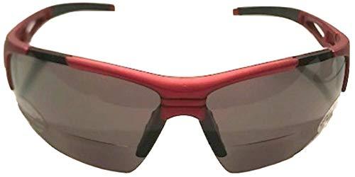 The Jackson Bifocal Safety Reading Sunglasses, Red/Smoke Lens + 2.00