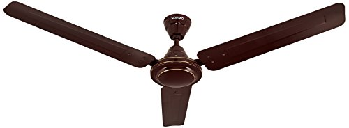 Amazon Brand - Solimo Swirl 1200mm Ceiling Fan (Brown)