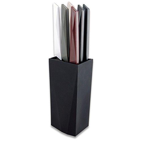 LE COUTEAU DU CHEF Il Coltello del Capo 10070006Blocco Nero + 6bistecche Sonico Colori Assortiti plastica Panache 9, 5x 27cm