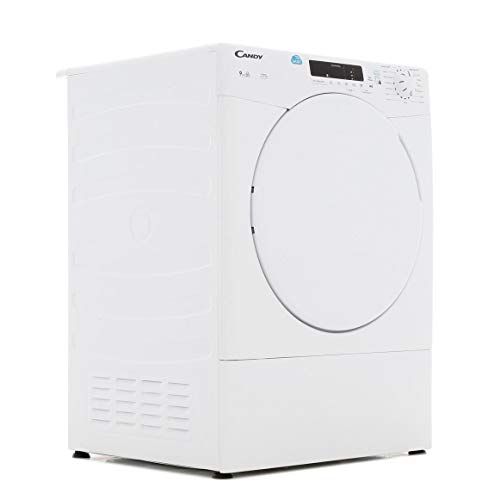 Candy CSV9DF 9kg Freestanding Vented White Tumble Dryer with Sensor Dry Programmes, Delay Start and Digital Display