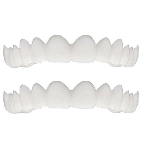 FiedFikt - Molde para dientes dentales cosméticos, ajuste cómodo para disfraz de dientes torcidos, manchados, faltantes y dientes huecos