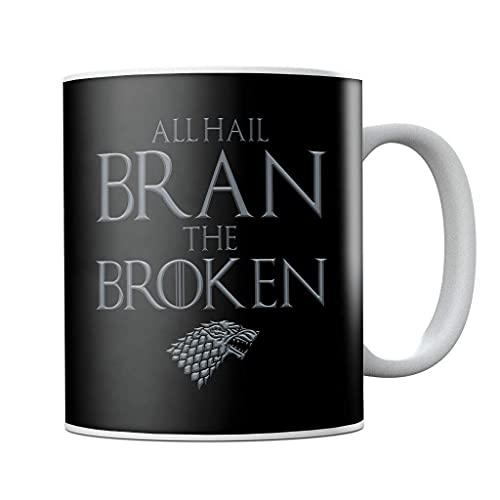 Juego de Tronos All Hail Bran The Broken - Taza de café de cerámica para regalo de cumpleaños